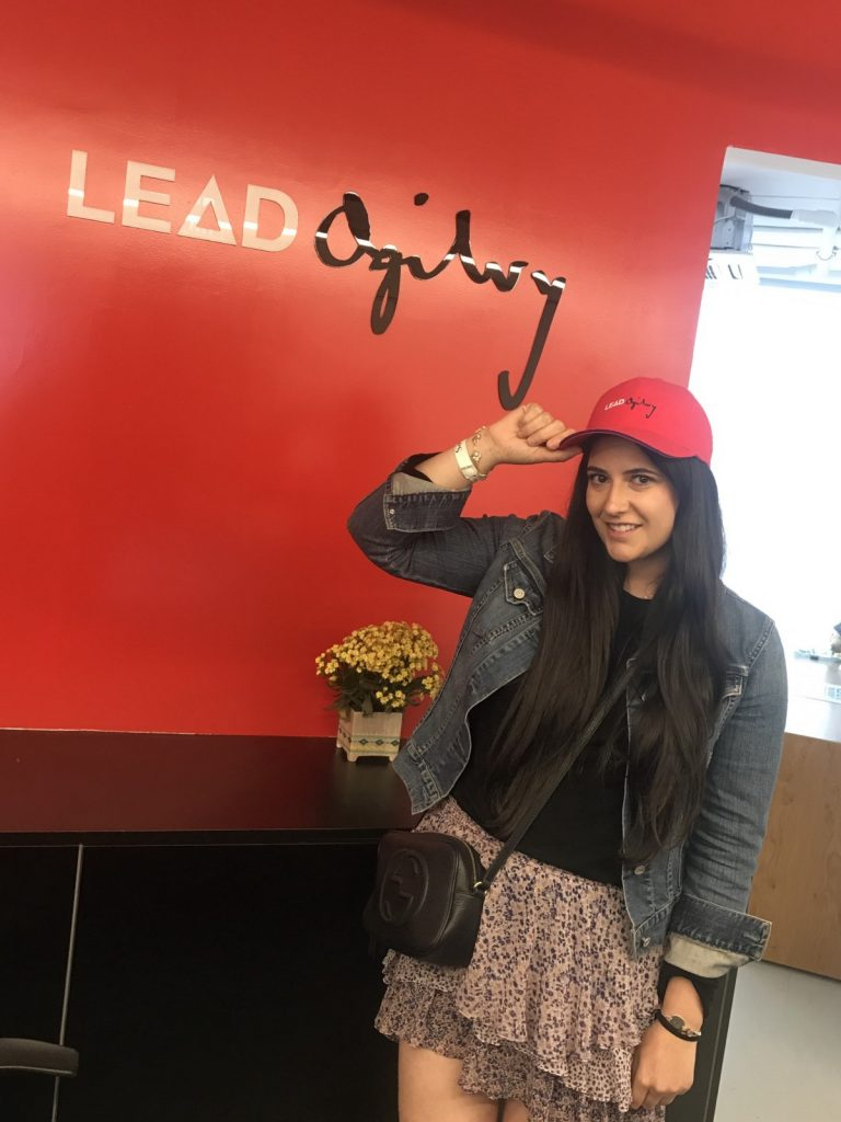 Sara visiting Ogilvy's Tel Aviv offices during her recent visit to Israel.
